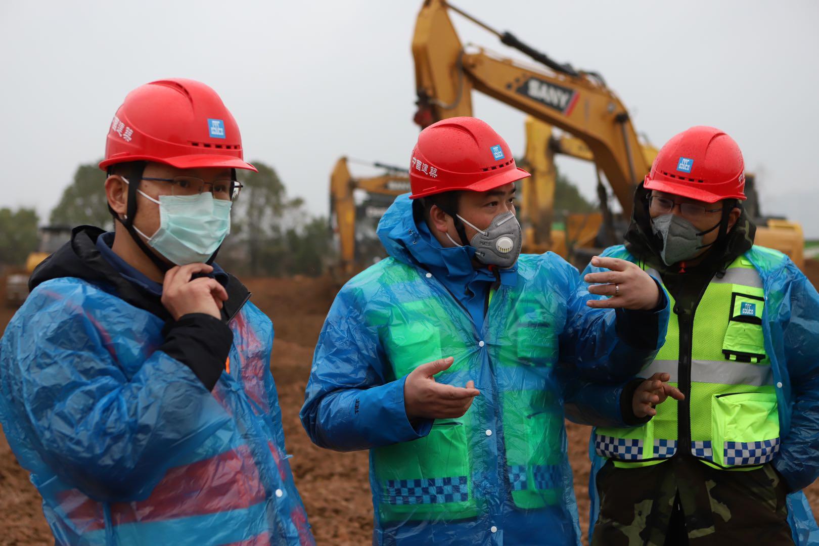 大年二十九赶赴一线 建设火神山医院这群建设者在行动