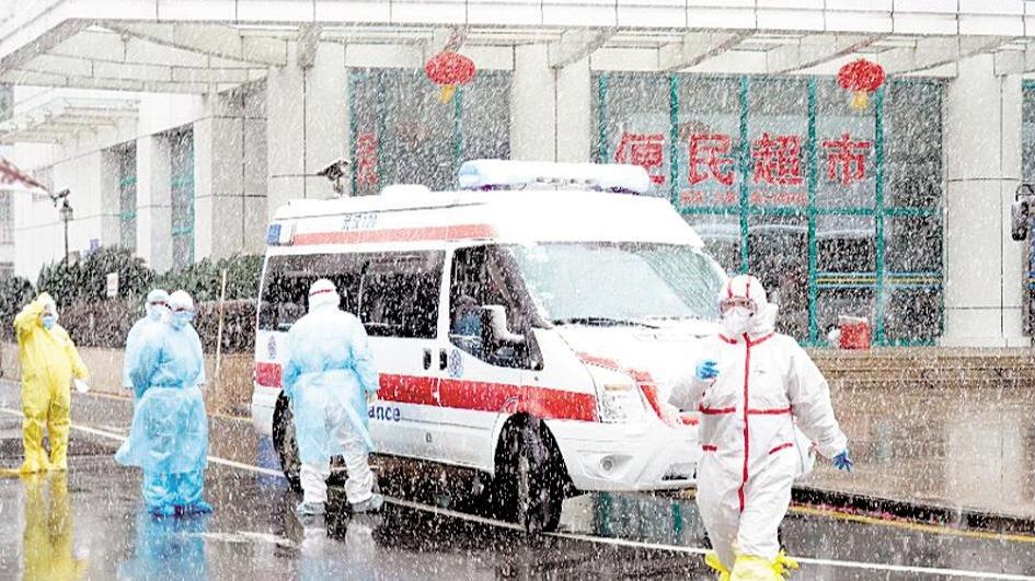 顶风冒雪转运收治539名新冠肺炎患者