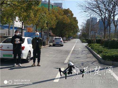 湖北省地質局利用無人機對黃岡疫情防控巡查
