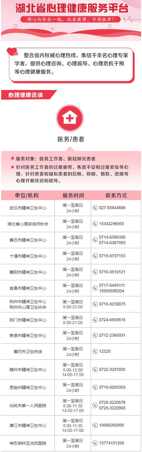 湖北省心理健康服务平台