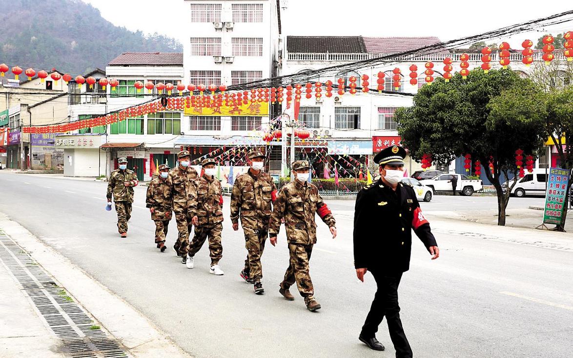谷城县:村村都有防疫巡逻队