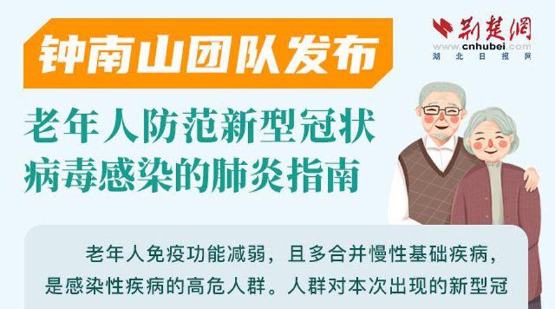 一图读懂:钟南山团队发布老年人防范新型冠状病毒感染的肺炎指南
