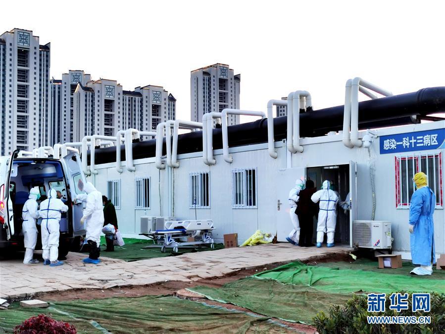 武汉雷神山医院继续收治新冠肺炎患者