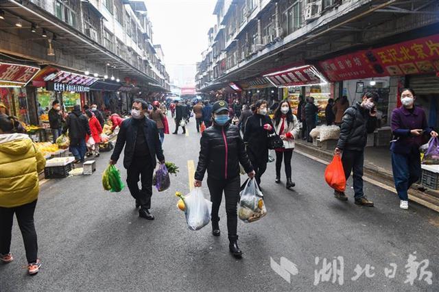 武汉江夏区最大农贸市场复市(图1)