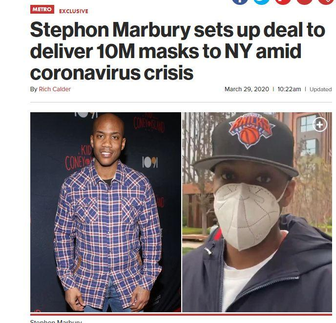 马布里心系故乡 帮纽约从中国低价采购1000万只口罩