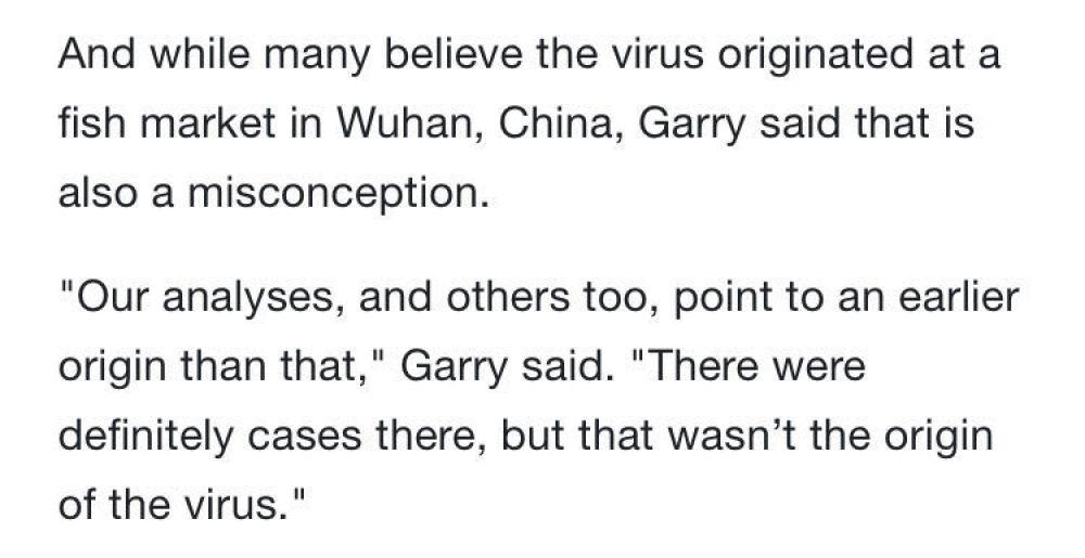 美国科学家:新冠病毒来源于大自然,并非来自实验室