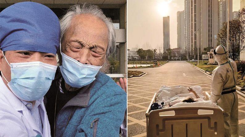沐浴着正午的暖阳 背着心爱的小提琴 病床上看夕阳的87岁老人出院了
