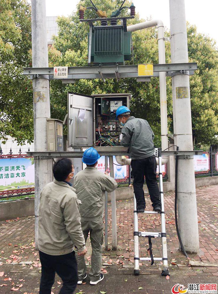 潜江对城区照明设施进行安全大检