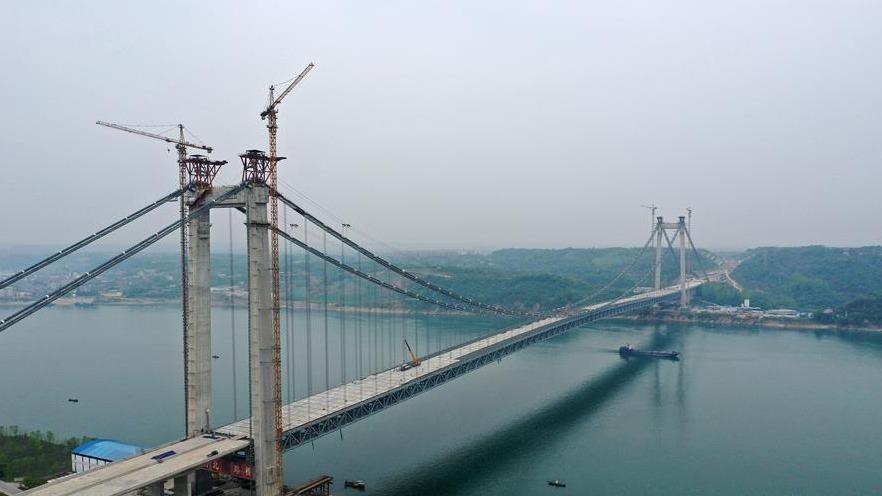 宜昌:白洋长江公路大桥建设有序推进