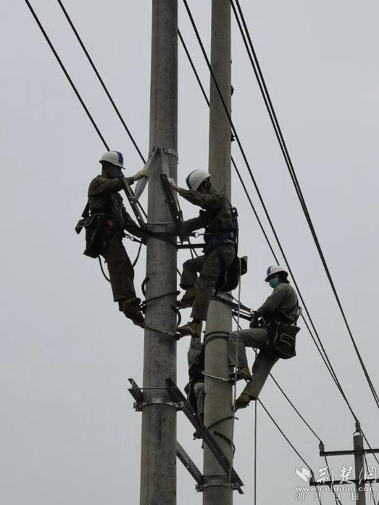 黃石供電架線忙 不竭電力流進復