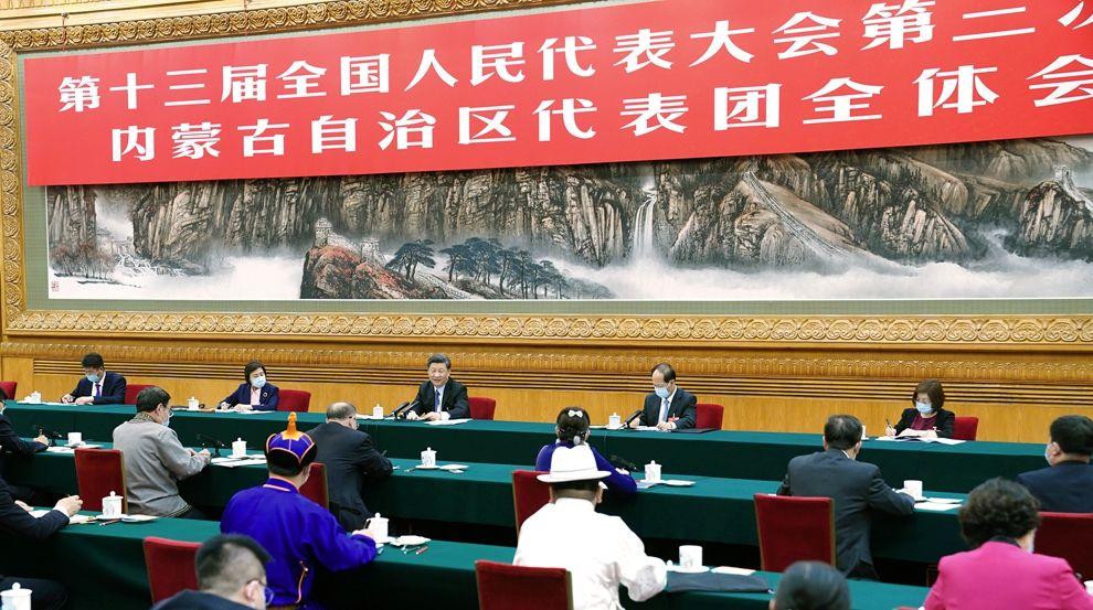 习近平在参加内蒙古代表团审议