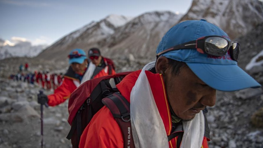 2020珠峰高程测量登山队全体队员安全返回大本营