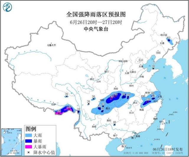 明后天大到暴雨自西向东扫荆楚,强降雨中心在鄂西和鄂北,短时大风8-10级