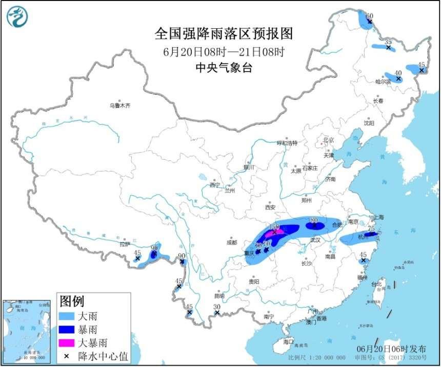 12省区市将有大到暴雨  重庆湖北局地大暴雨