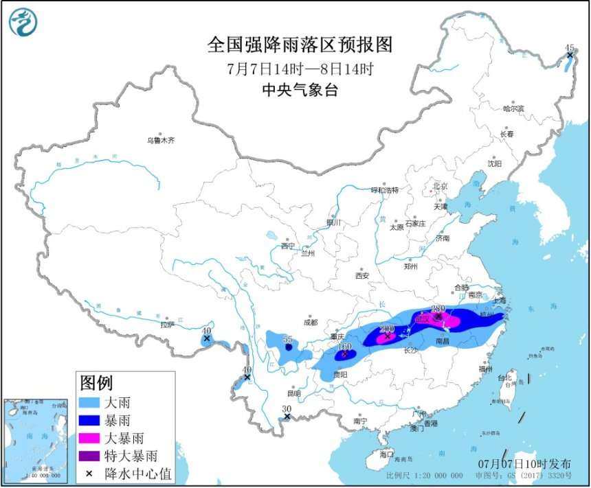 安徽湖北浙江重庆累计降雨量为近60年来同期最高