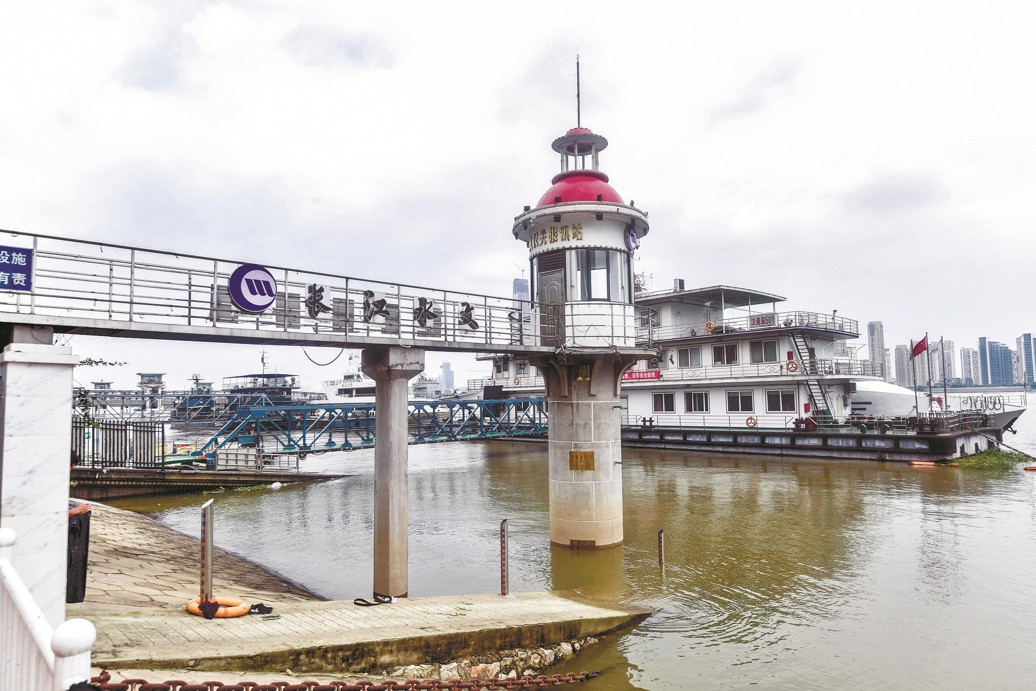长江汉江昨晨突破设防水位  受降雨和三峡泄洪影响武汉关水位24小时涨了0.55米
