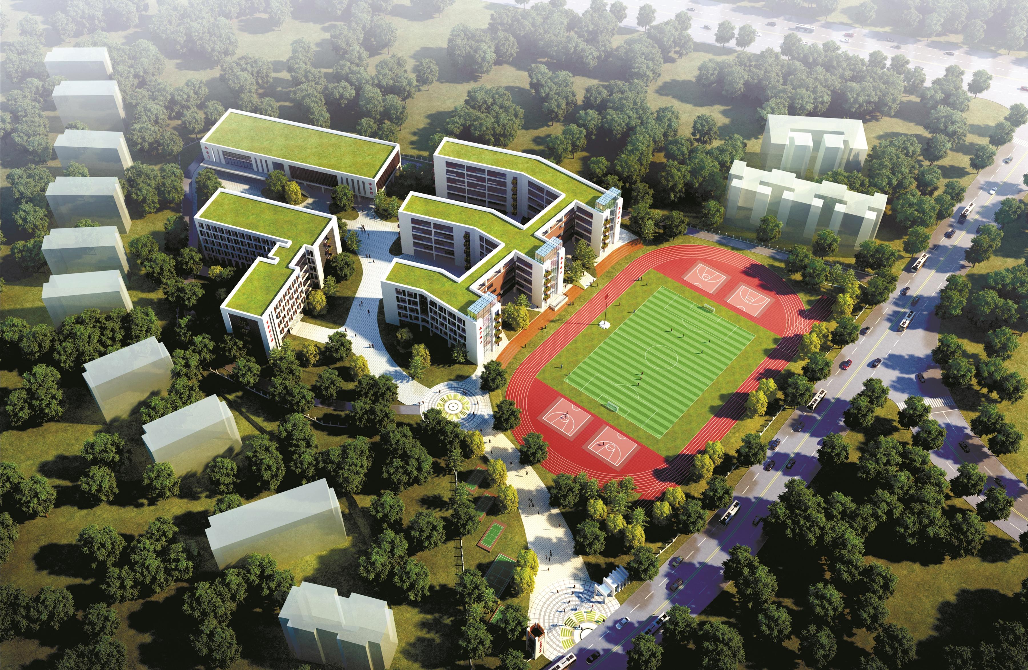 光谷新增一所优质初中 设计48个班提供2400个学位