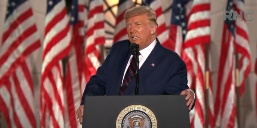 特朗普正式接受共和党总统候选人提名:对美国未来4年的光明未来充满信心