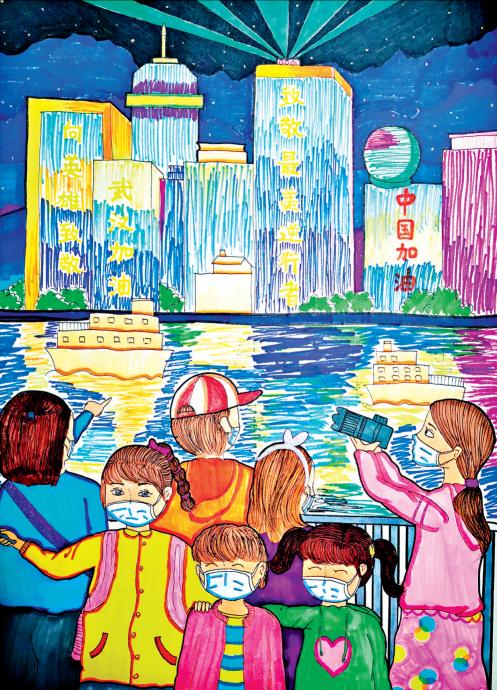 """武汉抗疫""""最美童画""""亮相国家博物馆"""