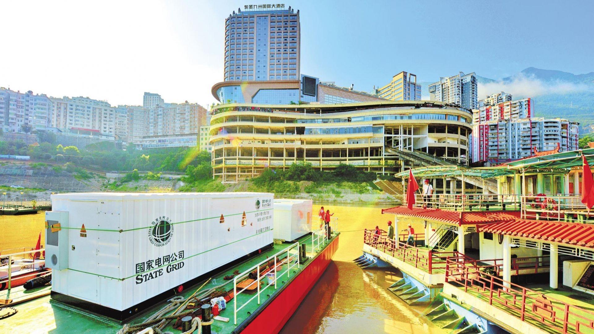 巴东旅游码头安装岸电