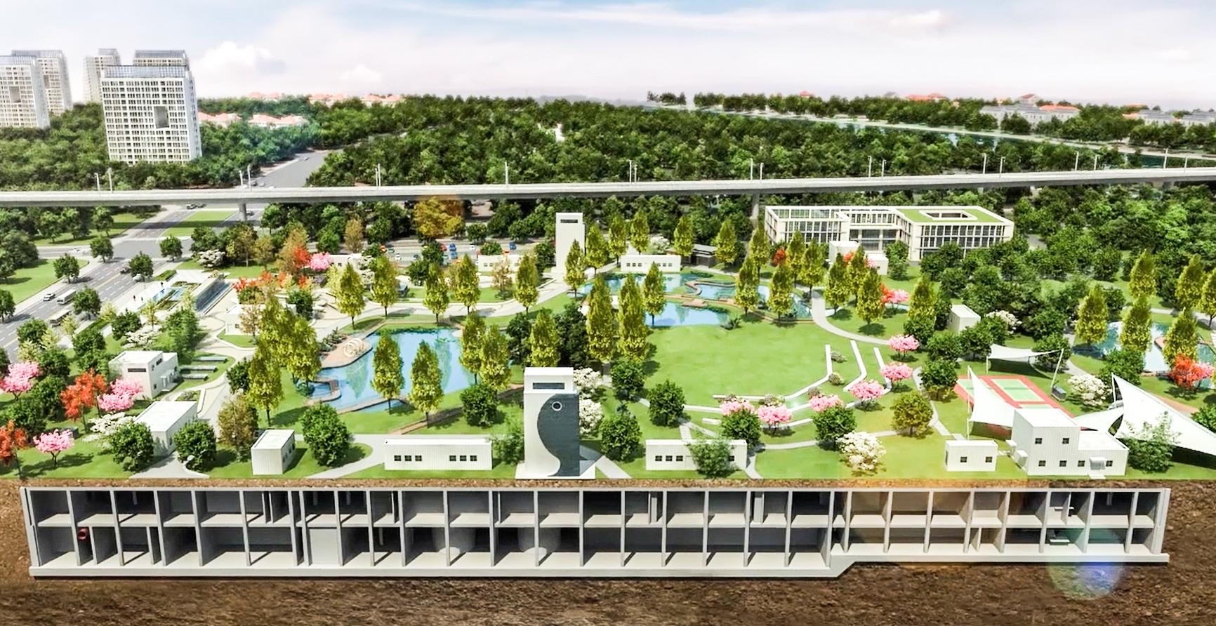 湖北首个全埋式地下污水处理厂开建:地下处理污水 地上打造公园(图1)