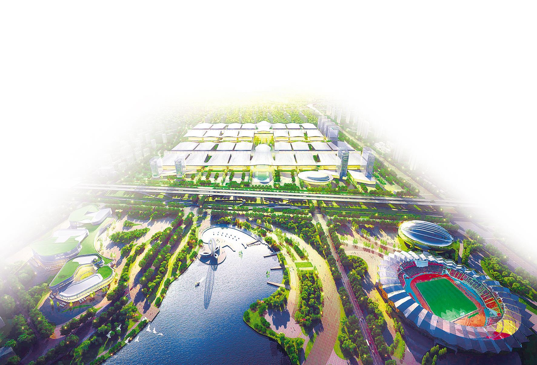 天河国际会展中心正拔地而起 室内净展面积全球第一