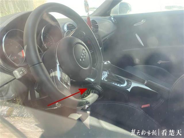 豪车方向盘被锁