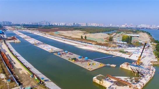 汉江首条沉管隧道水下爆破施工