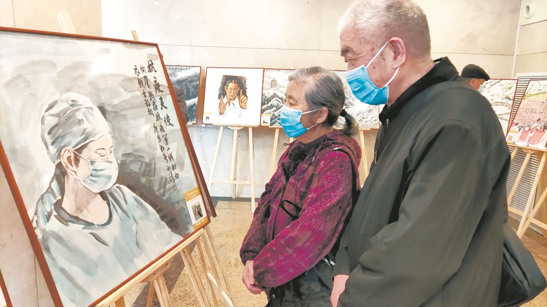 中老年人才艺大赛作品展在汉开展
