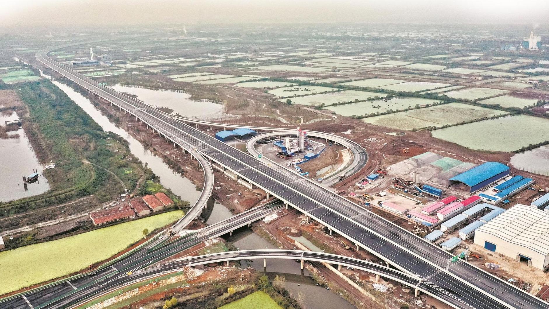 武汉四环线主线下月贯通