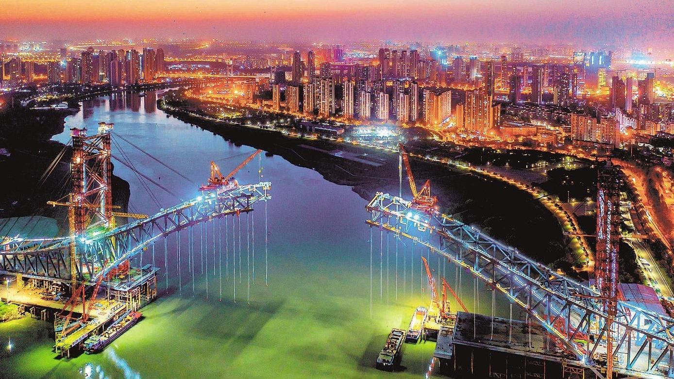 江汉七桥即将合龙