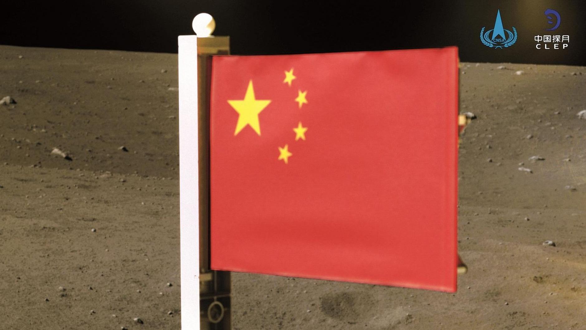 """骄傲!""""武汉造""""国旗闪耀月球"""
