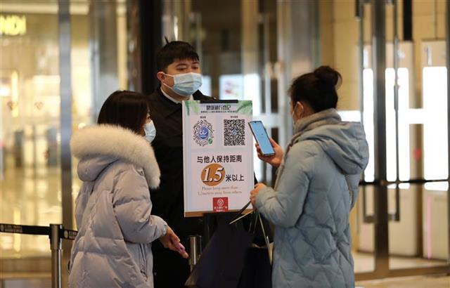 武漢商場加強疫情防控