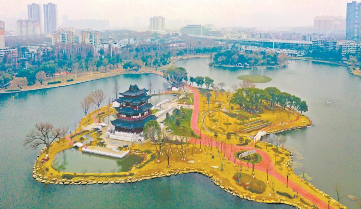武昌紫阳公园美容后展新颜 预计春节前开园迎客