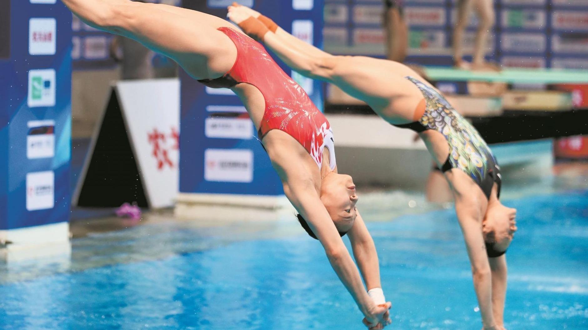 跳水梦之队来汉 争夺奥运入场券