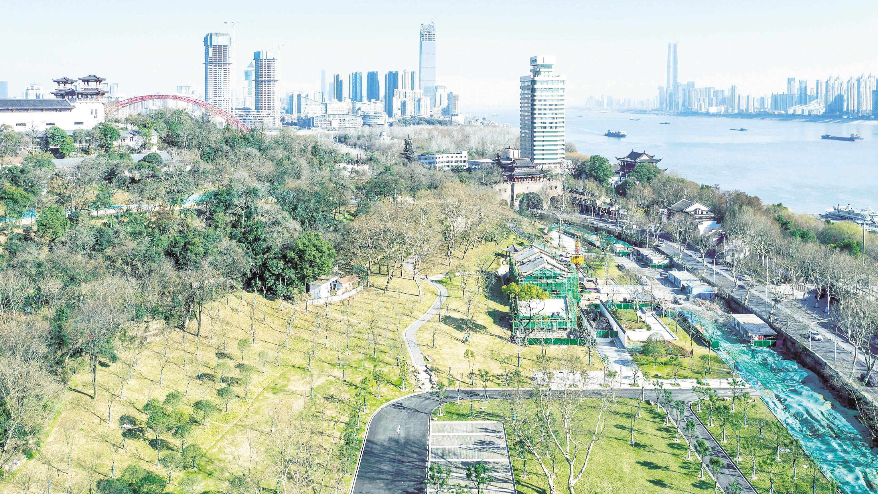 武漢龜山景區生態修復進入收官階段