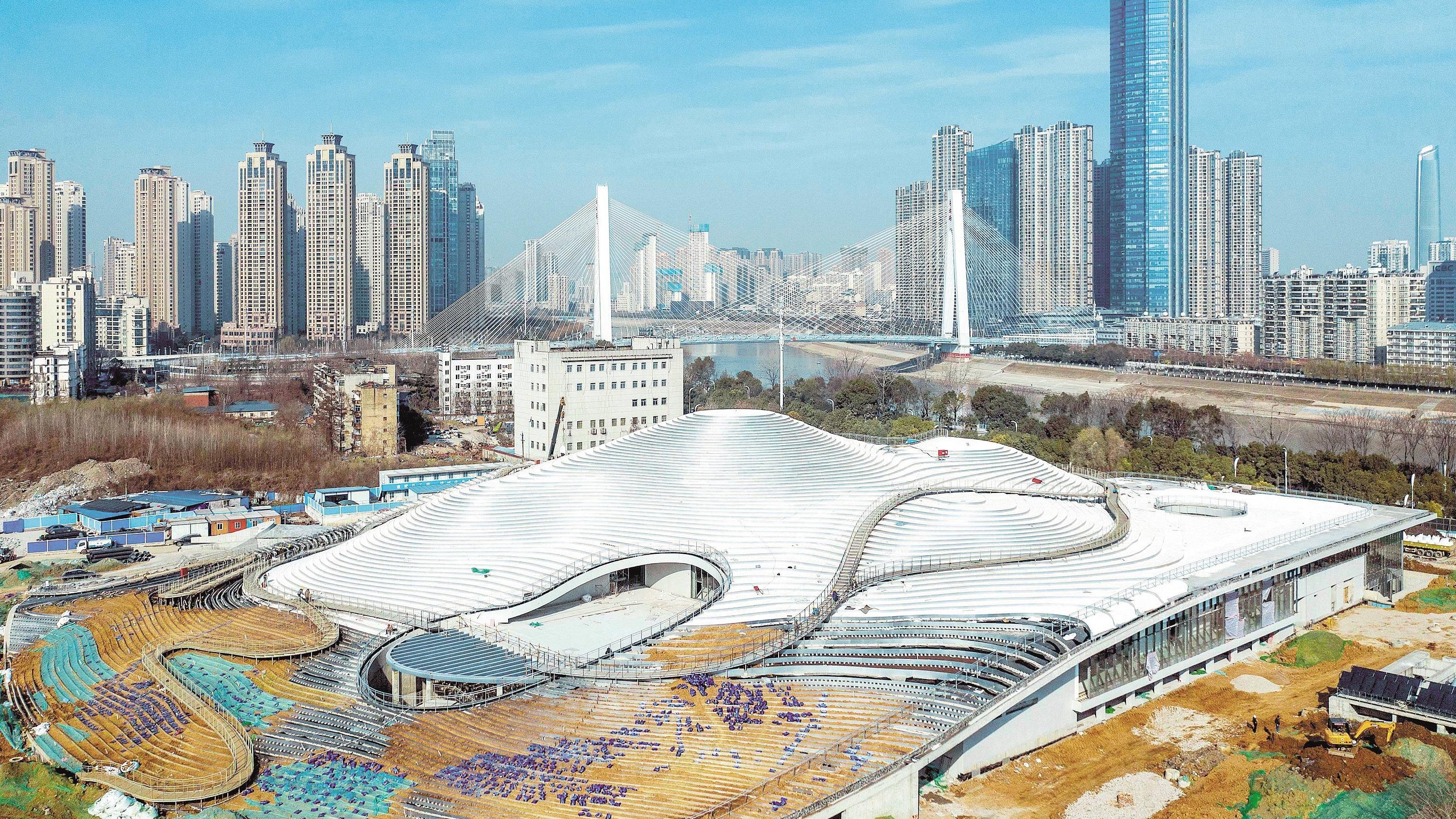 武漢琴臺美術館項目建設開年沖刺