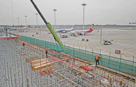 三峡机场二期改扩建项目施工正酣