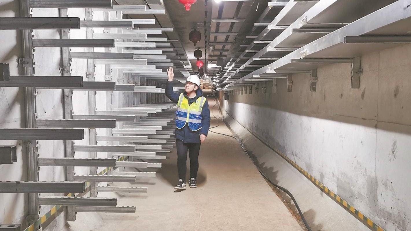 中法生態城地下管廊主體貫通