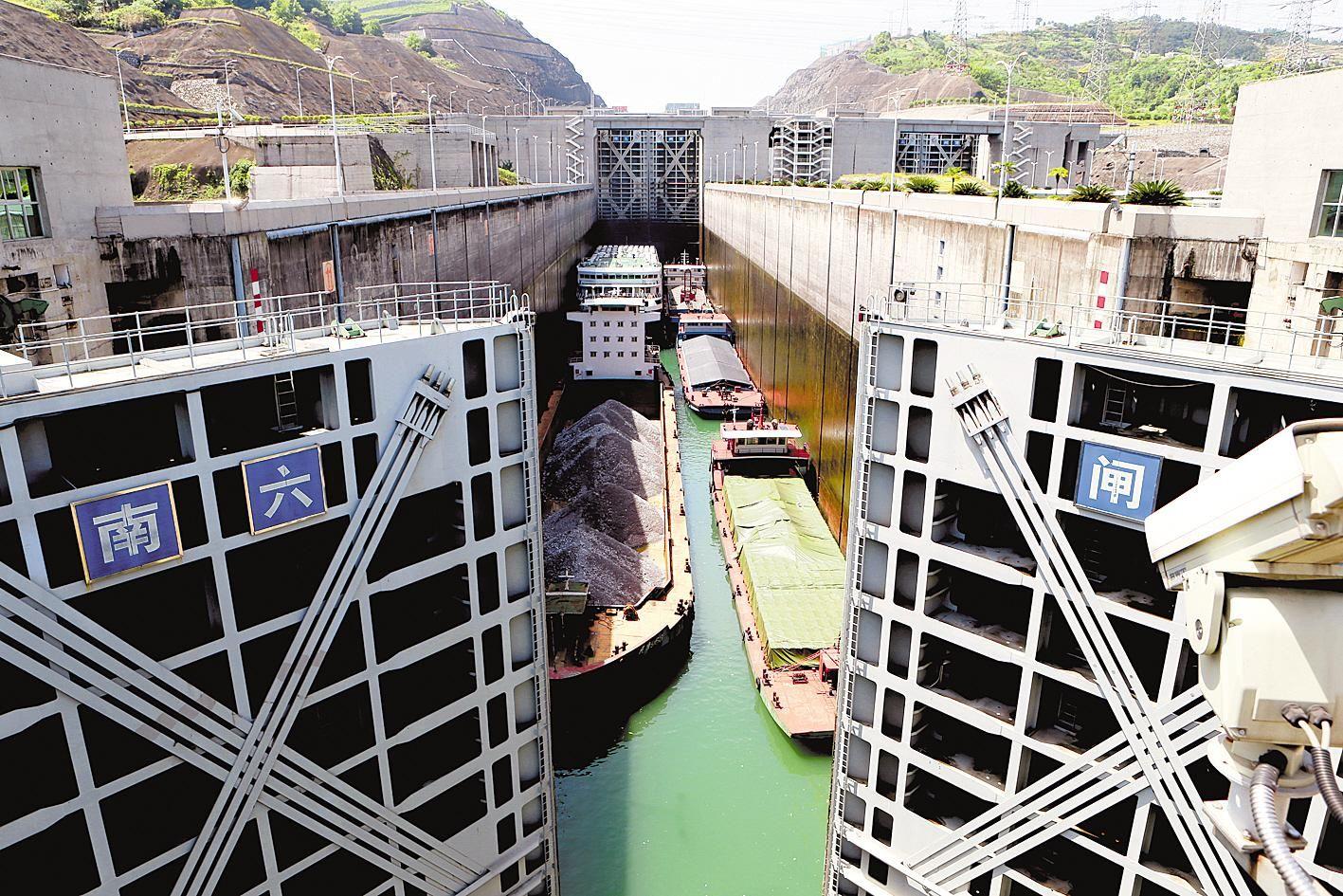 三峽樞紐年貨物通過量恢復九成三