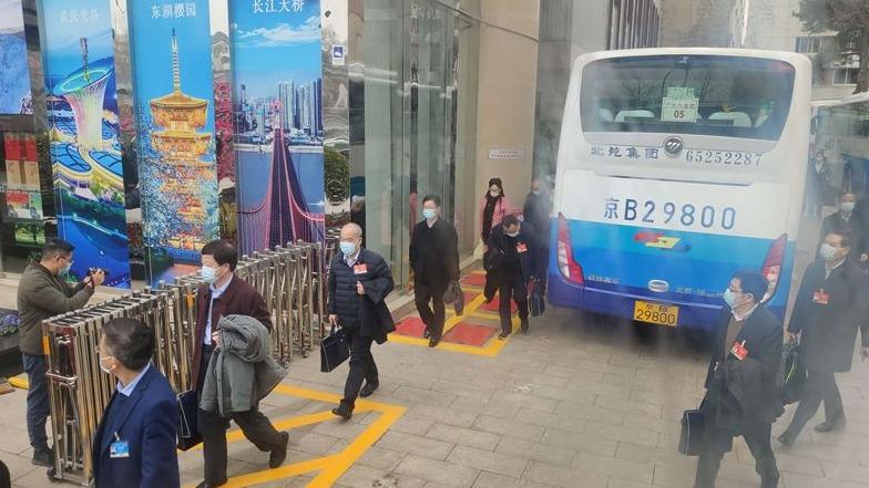 在鄂全国人大代表抵京