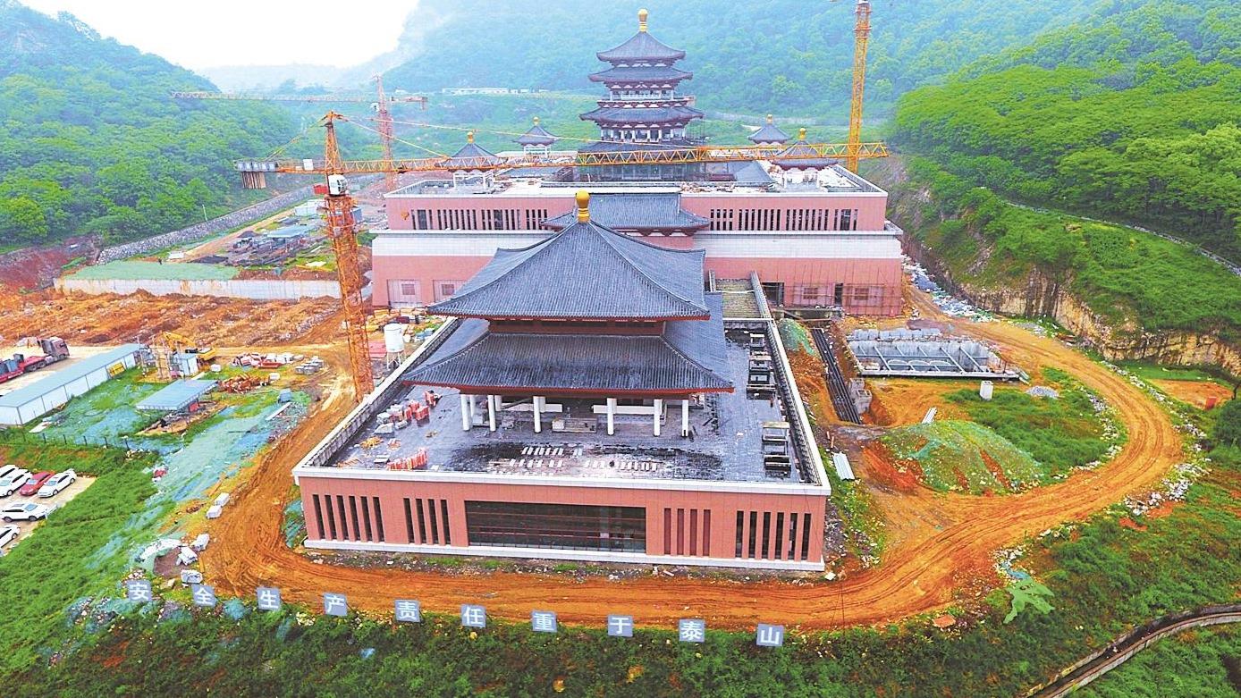 襄阳博物馆新馆外立面完工