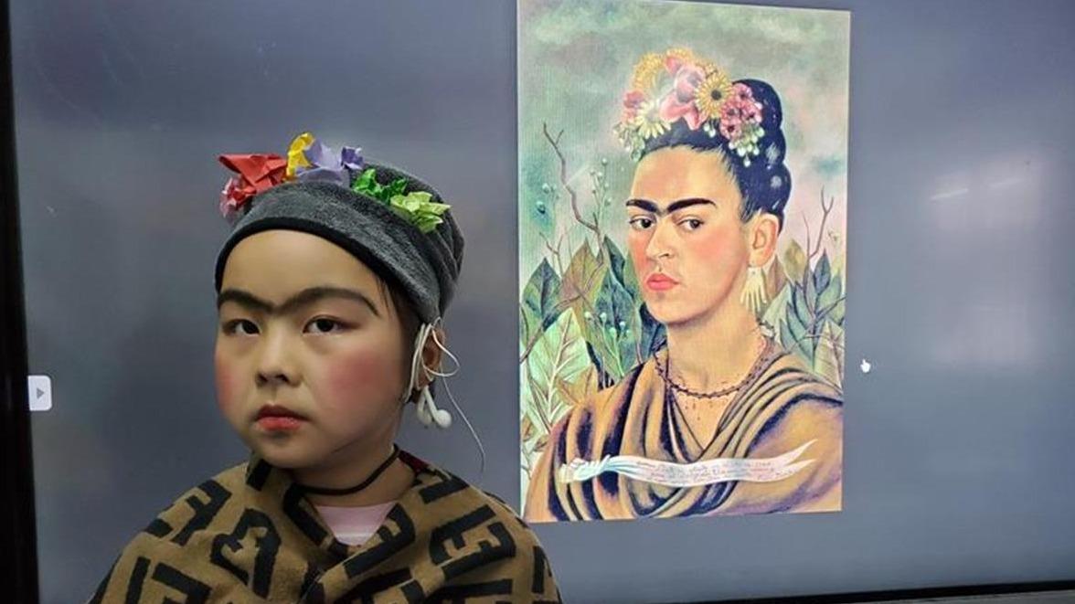 丹江口孩子的世界名画模仿秀惊艳朋友圈