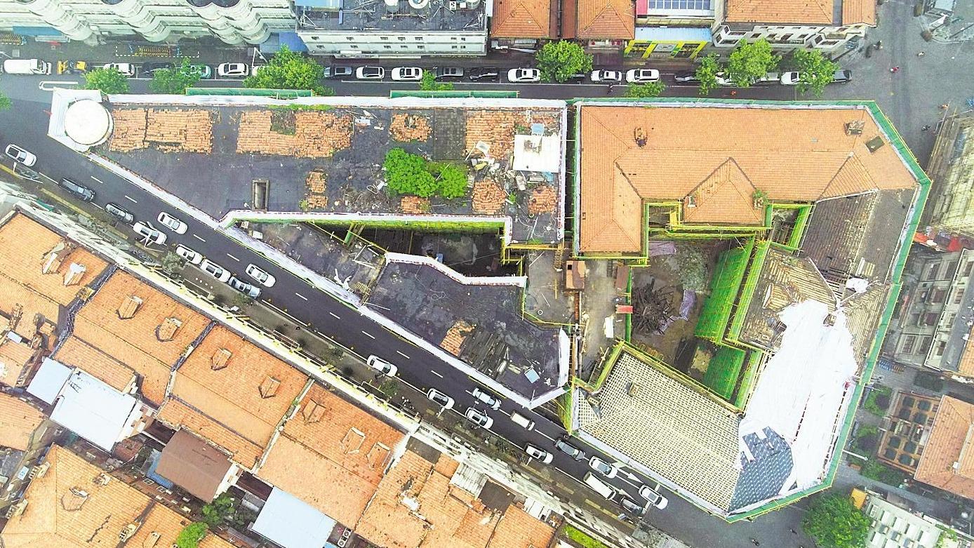 汉口巴公房子保护加固及内部改造工程正抓紧施工