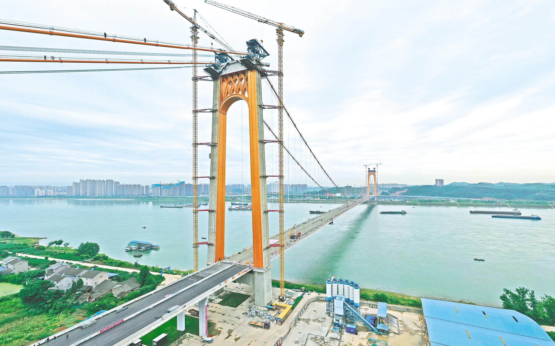 伍家岗长江大桥进入收尾施工