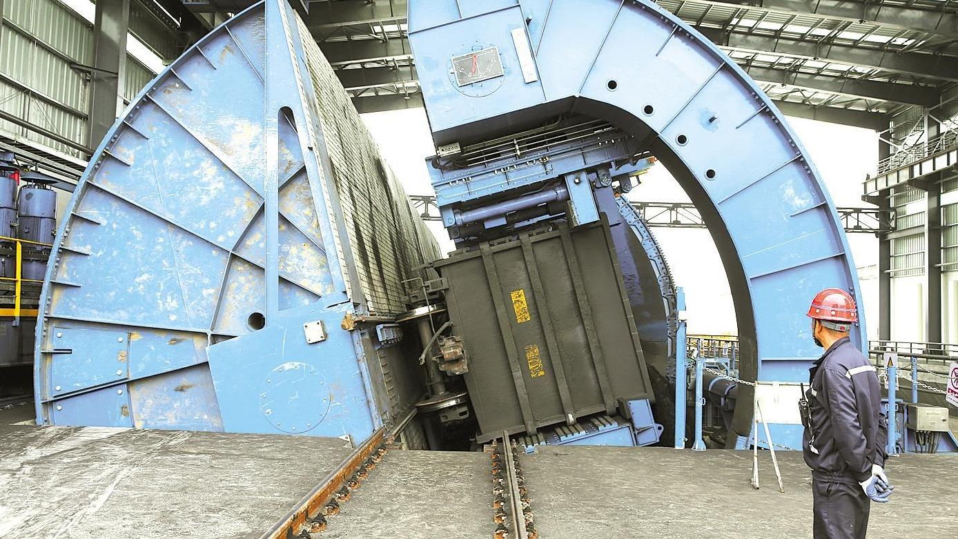 荆州煤储基地:1分30秒卸煤240吨不扬粉尘