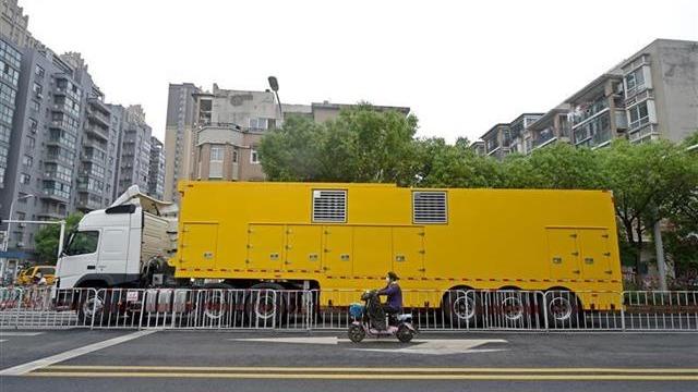 全国首台中压发电车在武汉首次使用