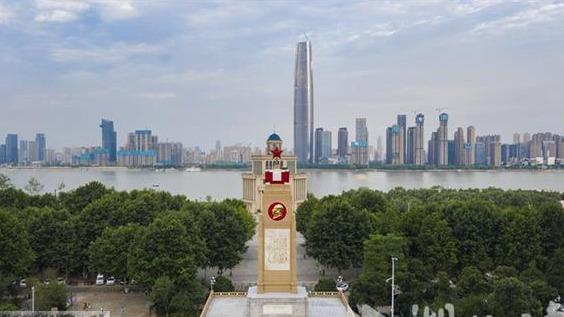 武漢防洪紀念碑煥新顏