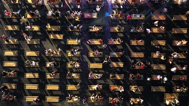 武漢:漢口里竹床文化節開幕啦