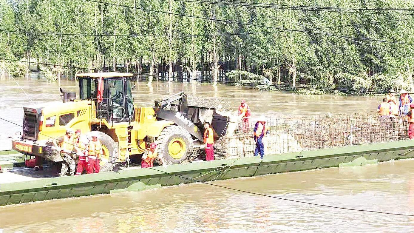 以舟作橋,奮戰衛河40米決口
